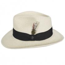 Summer C-Crown Toyo Straw Fedora Hat alternate view 3