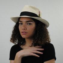 Summer C-Crown Toyo Straw Fedora Hat alternate view 5