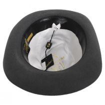 Alessandria Shaved Gray Fur Felt Fedora Hat alternate view 4