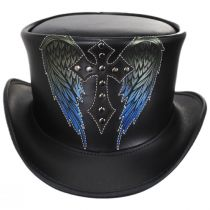 Dark Angel Leather Top Hat in
