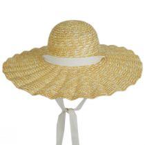 Scalloped Dolce Milan Straw Sun Hat alternate view 2