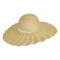 Scalloped Dolce Milan Straw Sun Hat alternate view 3