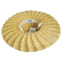 Scalloped Dolce Milan Straw Sun Hat alternate view 4