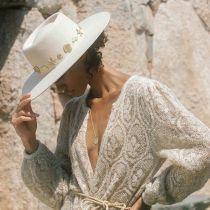 Seaside Wool Felt Boater Hat alternate view 6