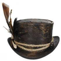 Wiccan Leather Top Hat in