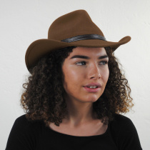 Crushable Wool Felt Outback Hat in