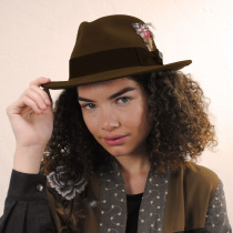 C-Crown Crushable Wool Felt Fedora Hat alternate view 12