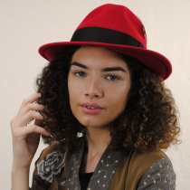 Pachuco Crushable Wool Felt Fedora Hat alternate view 7