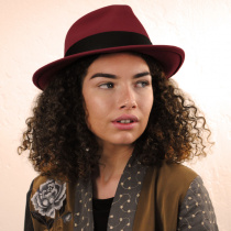Pachuco Crushable Wool Felt Fedora Hat alternate view 28