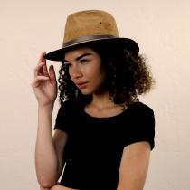Nubuck Leather Safari Fedora Hat alternate view 9