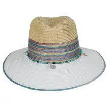 Nerissa Iridescent Toyo Straw Blend Fedora Hat alternate view 2