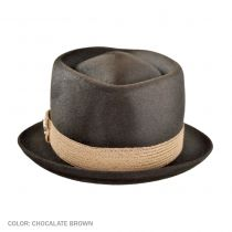 Evil Ways Diamond Crown Fur Felt Fedora Hat