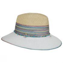 Nerissa Iridescent Toyo Straw Blend Fedora Hat alternate view 3