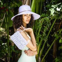 Waverly Sequin Toyo Straw Blend Swinger Sun Hat alternate view 9