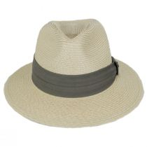Cay Sal Toyo Straw Safari Fedora Hat alternate view 2