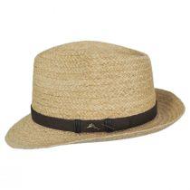 Azores Raffia Straw Fedora Hat alternate view 3