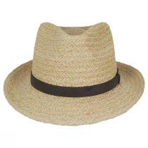 Azores Raffia Straw Fedora Hat alternate view 6