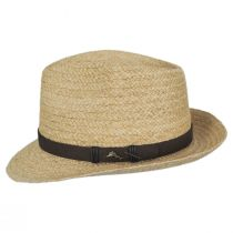 Azores Raffia Straw Fedora Hat alternate view 7