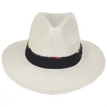 Shadie Matte Toyo Straw Safari Fedora Hat alternate view 2