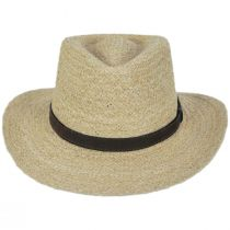 Global Raffia Straw Outback Fedora Hat alternate view 2