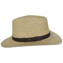 Global Raffia Straw Outback Fedora Hat alternate view 3