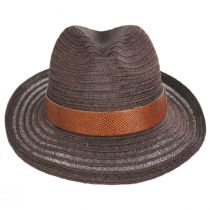 Avant Gard Hemp Straw Fedora Hat alternate view 2