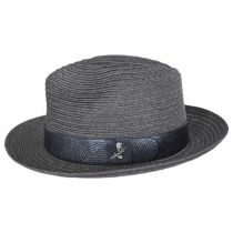 Avant Gard Hemp Straw Fedora Hat alternate view 15