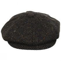 Magee Donegal Tweed Herringbone Wool Blend Newsboy Cap alternate view 6