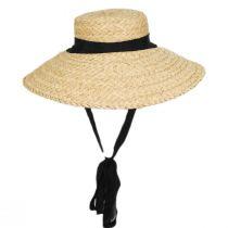 Sun-Brella Raffia Straw Boater Hat alternate view 2