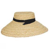 Sun-Brella Raffia Straw Boater Hat alternate view 3