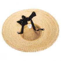 Sun-Brella Raffia Straw Boater Hat alternate view 4