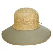 Sharon Raffia Straw and Cotton Facesaver Hat alternate view 6