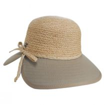 Sharon Raffia Straw and Cotton Facesaver Hat alternate view 7