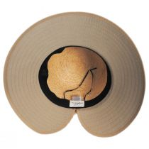 Sharon Raffia Straw and Cotton Facesaver Hat alternate view 8