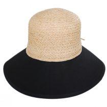 Sharon Raffia Straw and Cotton Facesaver Hat alternate view 2