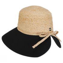 Sharon Raffia Straw and Cotton Facesaver Hat alternate view 3