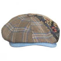 Aire Mixed Print Cotton Newsboy Cap alternate view 2