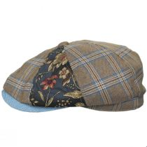 Aire Mixed Print Cotton Newsboy Cap alternate view 3