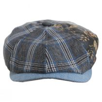 Aire Mixed Print Cotton Newsboy Cap alternate view 6