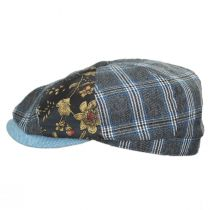 Aire Mixed Print Cotton Newsboy Cap alternate view 7