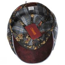 Aire Mixed Print Cotton Newsboy Cap in