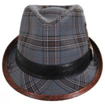 Romeo Plaid Cotton Fedora Hat alternate view 2