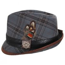 Romeo Plaid Cotton Fedora Hat alternate view 3