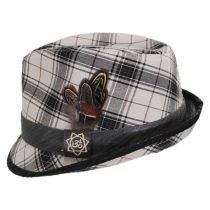 Romeo Plaid Cotton Fedora Hat alternate view 7