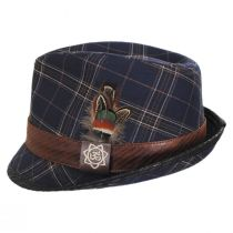 Romeo Plaid Cotton Fedora Hat alternate view 19
