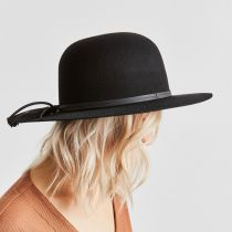 Phoebe Wool Felt and Leather Open Crown Hat alternate view 18