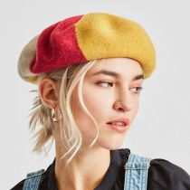 Audrey Colorblock Wool Beret alternate view 4