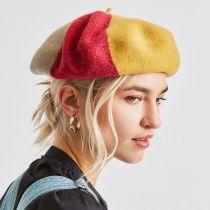 Audrey Colorblock Wool Beret alternate view 5