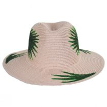 Hand Painted Palm Leaves Toyo Straw Fedora Hat alternate view 2