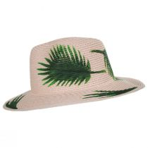 Hand Painted Palm Leaves Toyo Straw Fedora Hat alternate view 3